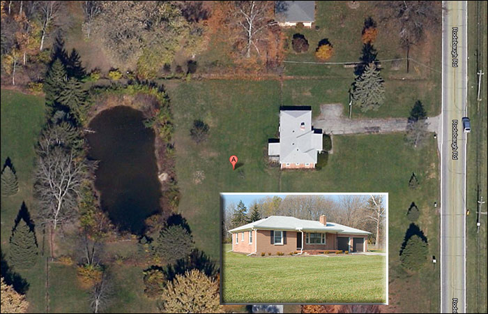 Aerial view of 6970 rodebaugh rd